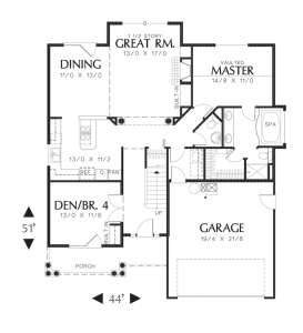 Wellborn Main Floor Plan - Sage Homes