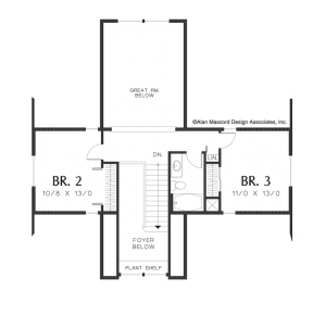 Wellborn Upper Floor Plan - Sage Homes