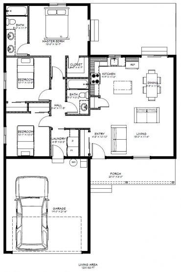 Sage Brook Model 1 Floor Plan
